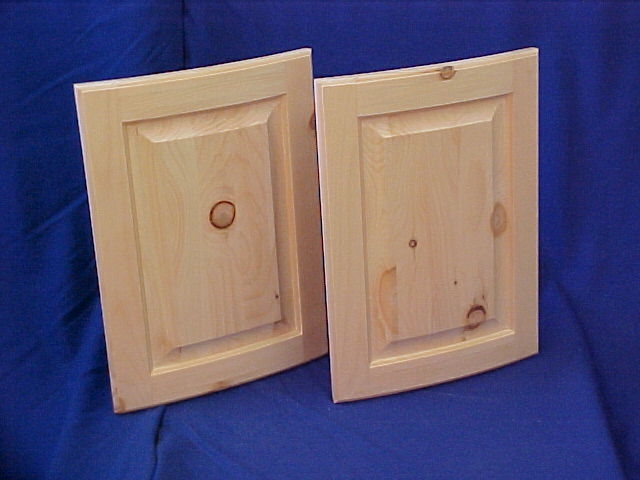 Knotty Pine Stain Grade Raised Panel Doors U0026 Slab Radius Drawer Fronts With  Applied Molding